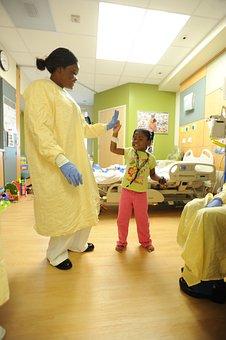 Hospital, Nurse, Patient, Child, Girl