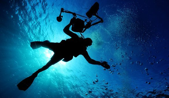 Sea, Scuba Diving, Ocean, Water, Light