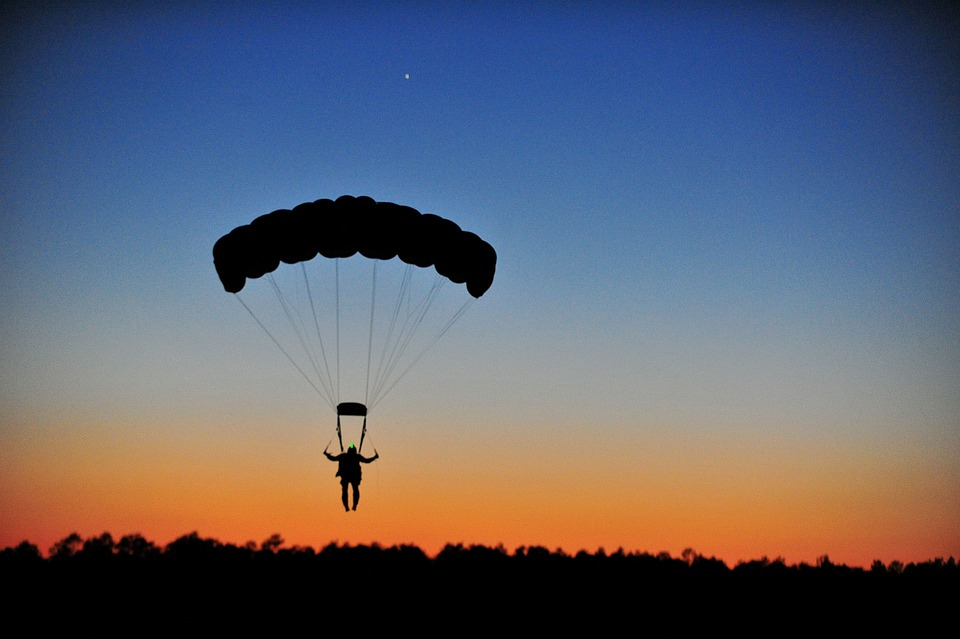 parachutisme horizon