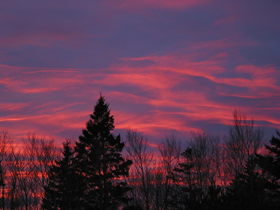 Acadia National Park, Maine, Sunset, Sky, Clouds