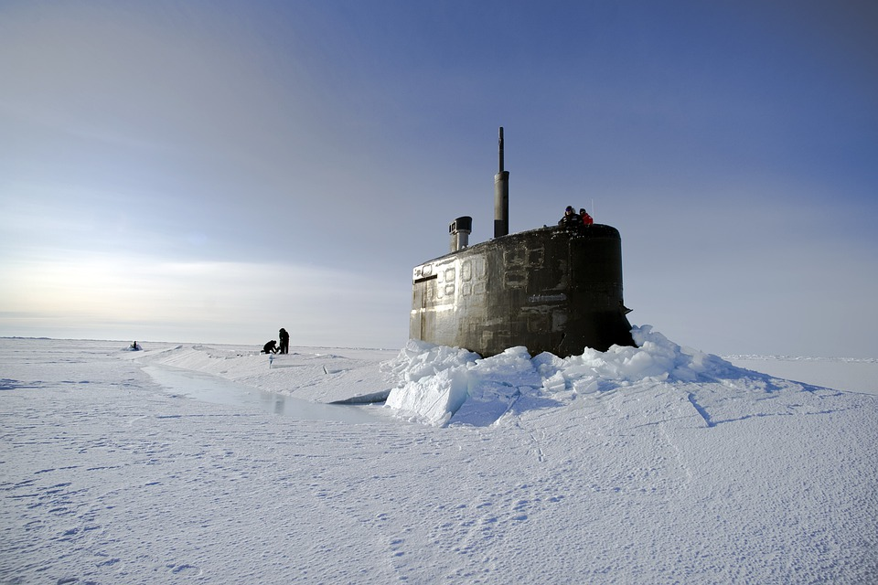 Océan Arctique, Sous Marin, États Unis Marine