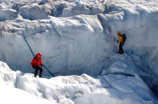 Greenland, Crevasse, Snow, Ice, Winter