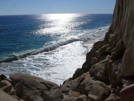 Messico, Cabo San Lucas, Oceano, Rocce