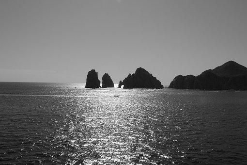 Cabo San Lucas Mexico Ocean Water Rocks Se