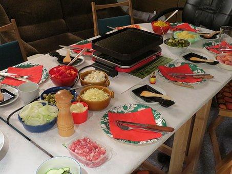 Raclette, Fest, Feiern, Essen