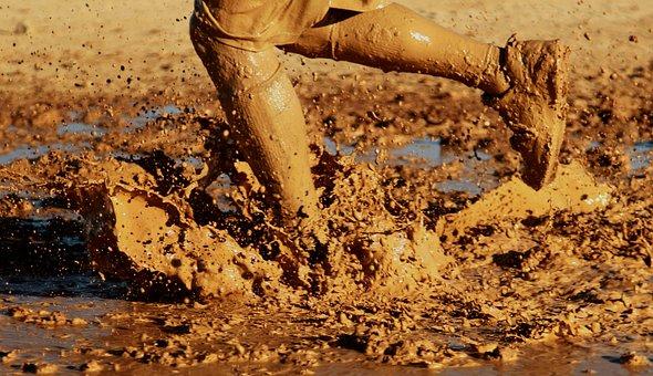 Running Water Outside Mud Muddy Splash Spl