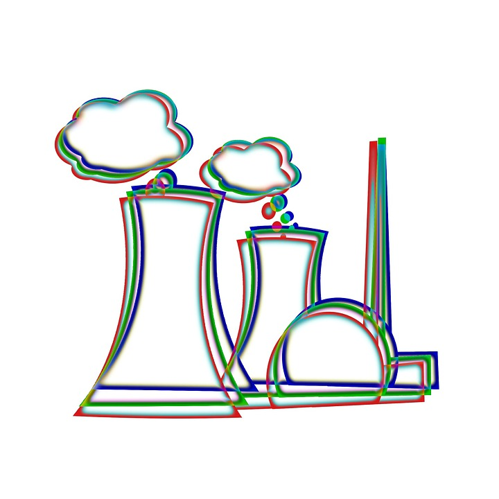 free illustration: nuclear power plant, nuclear power - free image