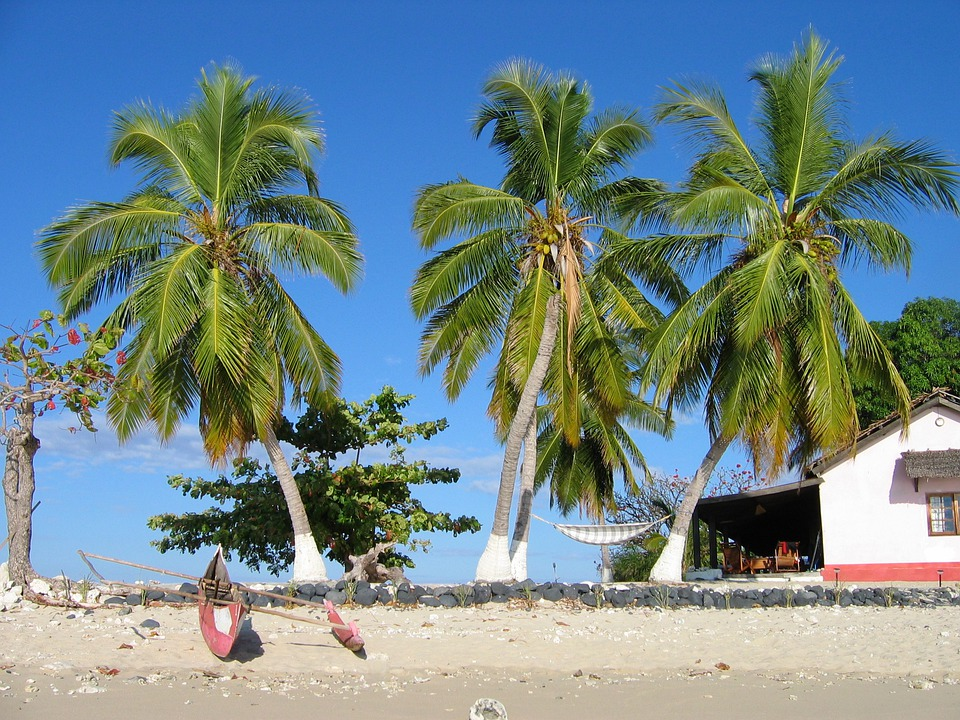 Madagascar, Pirogue, Pêcheur, Plage, Mer, Tropical