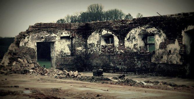 Demolition, Wall, Vault, Masonry, Stones
