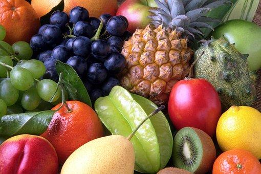 Frutas, Dulce, Exóticas, Piña