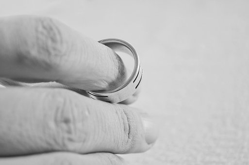 Hand Finger People Ring Marriage Divorce D