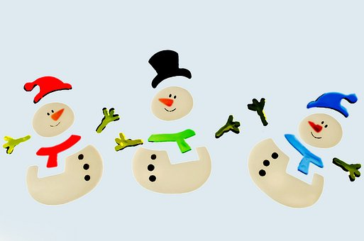 Snowman, Snowmen, Decorations, Color