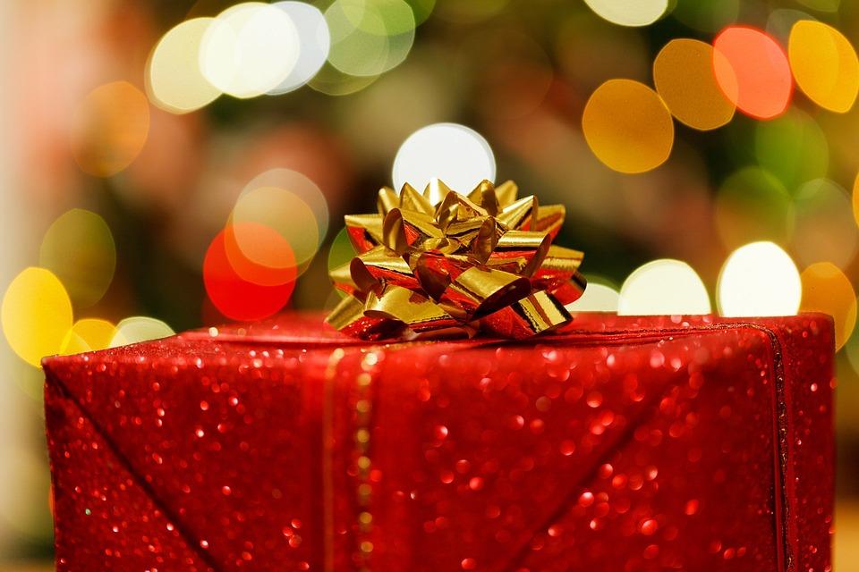 クリスマス プレゼント, ボックス, 祝賀, クリスマス, お祝いの, クリスマスのギフト, 休日, ライト
