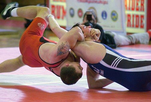 Men, Wrestling, Sports, Grappling, Mat