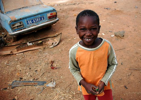 Senegal, Child, Boy, Smiling, Dirt