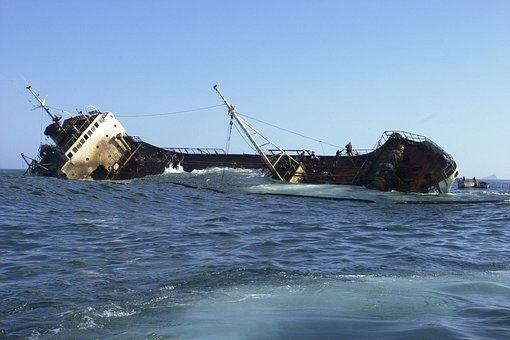 Ship, Listing, Galapagos Islands, Sea