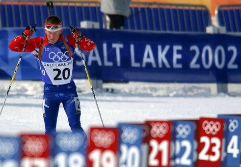 Biathlon, Athlete, Olympics, Winter