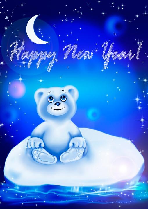 Karhu Kortti Uusi Vuosi · Ilmainen kuva Pixabayssa