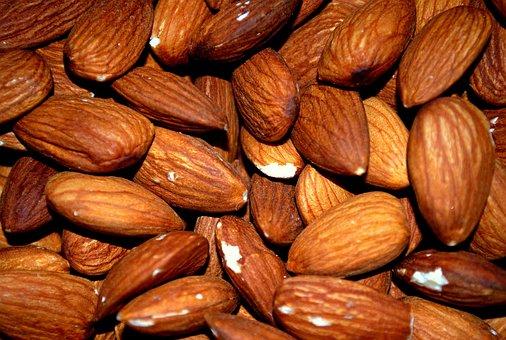 Almond, Almonds, Roasted, Roast, Nut