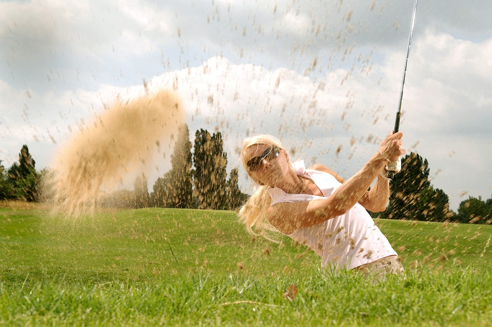 Golf, Golfer, Tee, Golf Clubs, Sport, Action