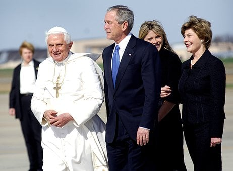 Pope Benedict Xvi, President George Bush