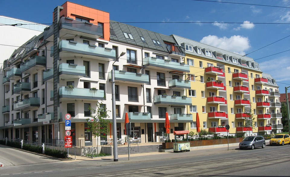 Delightful Nordhausen Germany Buildings Colorful Apartments