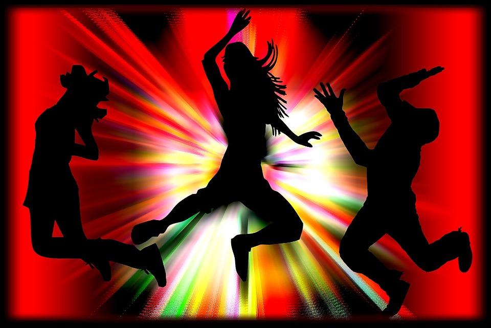 paar cam meisjes dans
