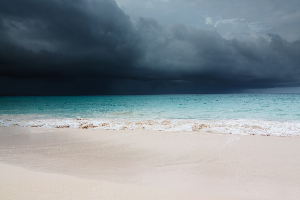 Beach Sand Clouds Sea Caribbean Water Peaceful: Beach Blue Caribbean · Free Photo On Pixabay