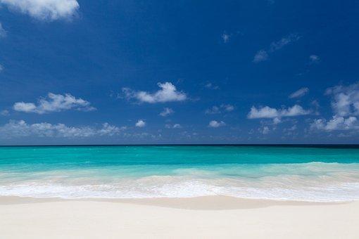 Background, Beach, Blue, Clear