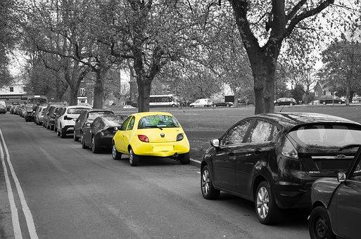 Żółty, Samochód, Kolor, Nieruchomości
