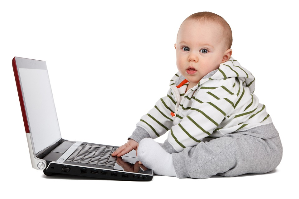 Baby, Boy, Child, Childhood, Computer, Concept