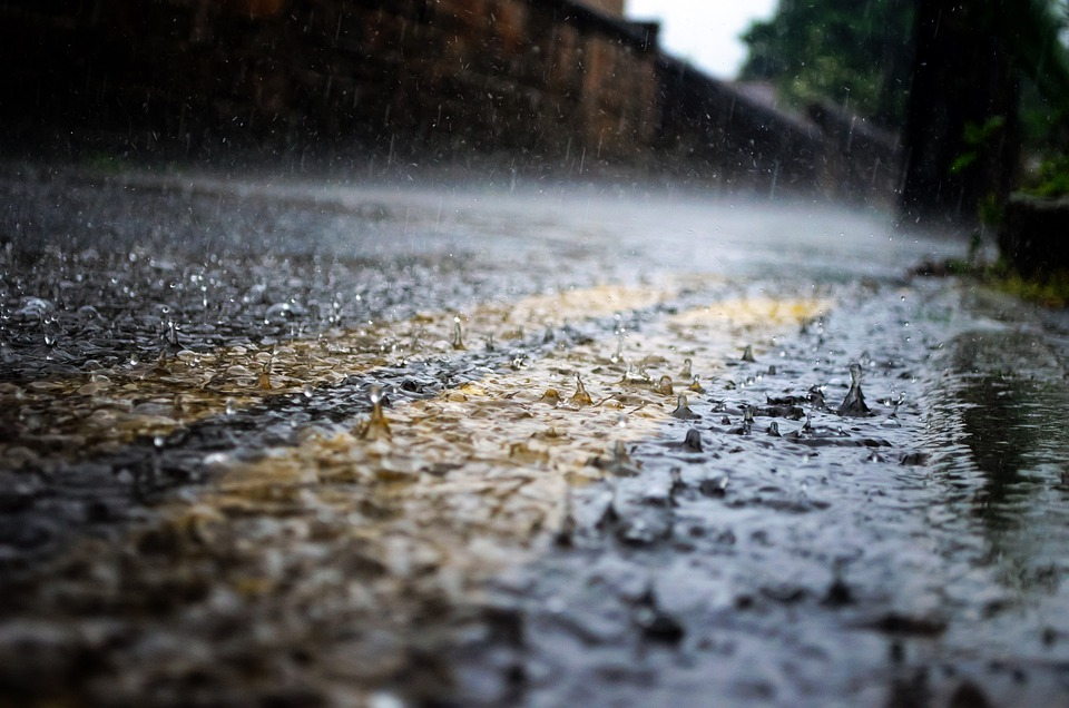 Rain, Raindrops, Seasons, Water, Macro, Road, Way