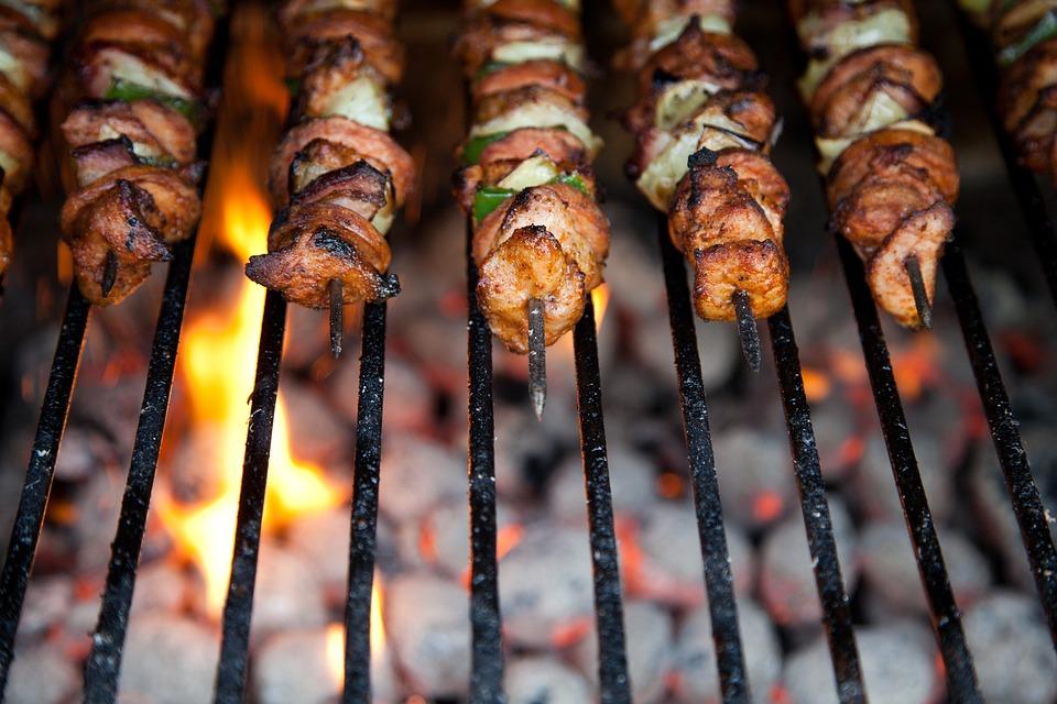 บาร์บีคิว, เนื้อวัว, ไก่, การปรุงอาหาร, อาหารค่ำ