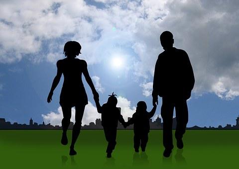 Família, Crianças, Pai, Mãe, Proteção