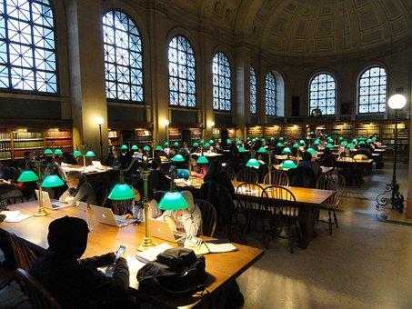 ボストン公共図書館, ボストン, マサチューセッツ州, 人, インテリア, 内部