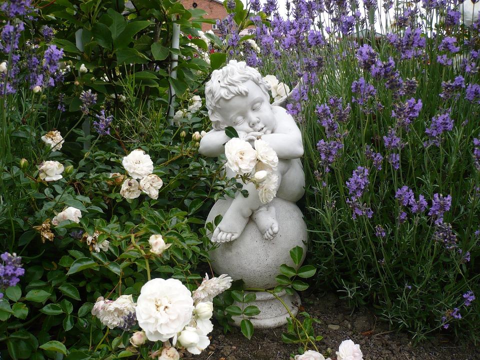 Engel Garten Blumen Kostenloses Foto Auf Pixabay