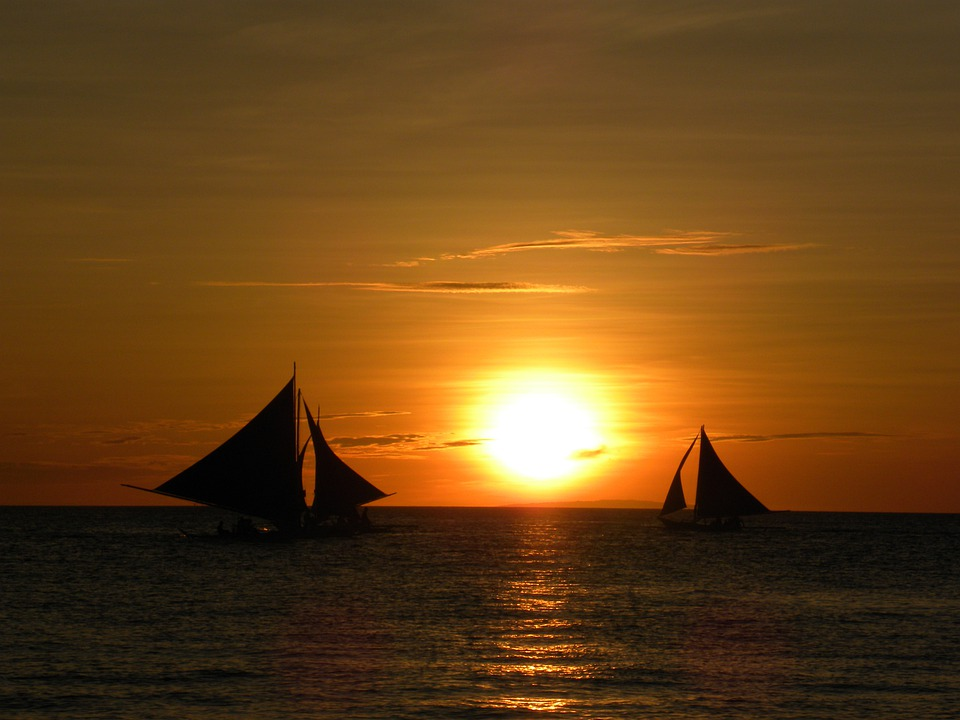 free photo  sunset  sailing  boats  sea  travel