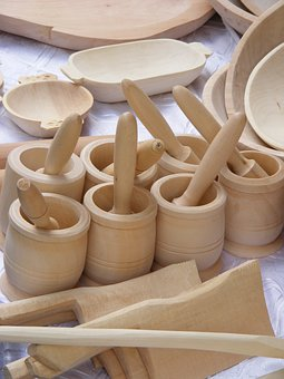 Dishes, Wood, Romanian, Sculpture