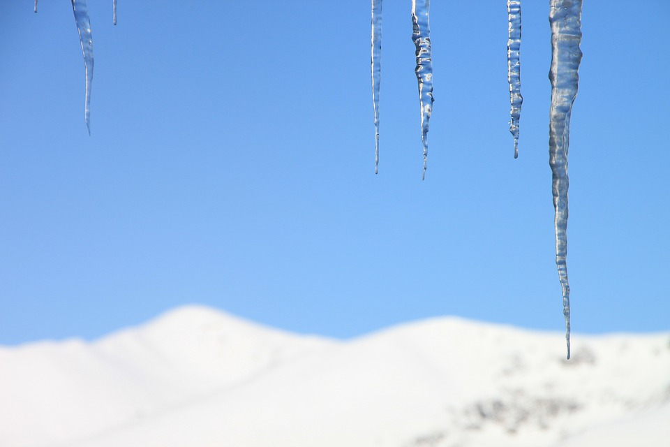 Portratt av en iskall dam