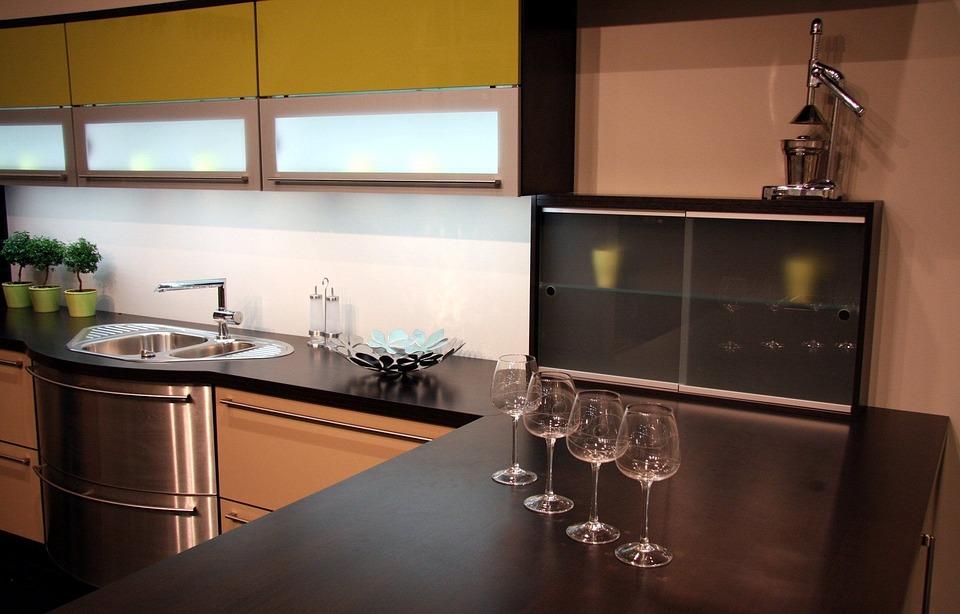Kitchen, Inside, Modern, Furniture, Contemporary