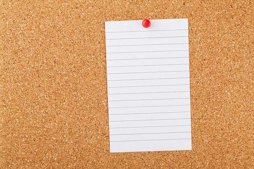 Blank Board Business Cork Board Corkboard