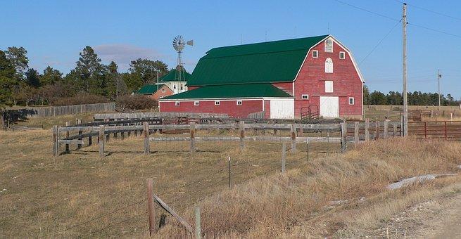 Nebraska, Farm, Landscape, Barn