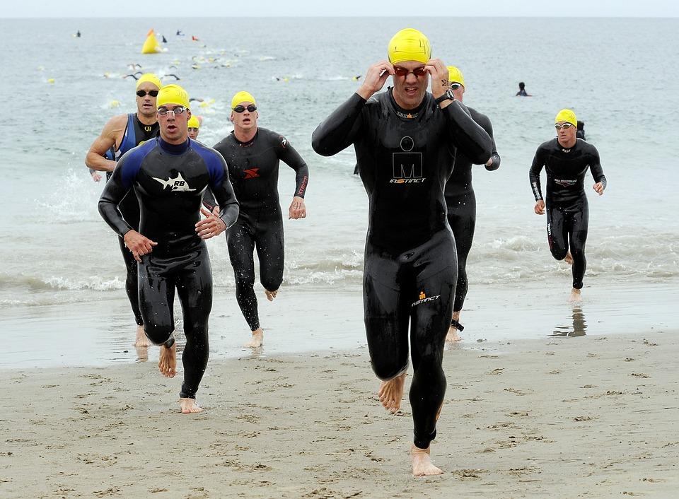Point Mugu, California, Triathlon, Men, Sea, Ocean