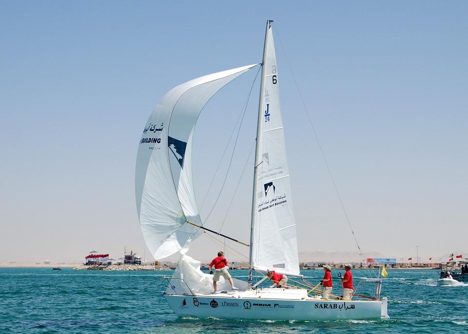 Bahrain, Sky, Clouds, Sailboats, Sea, Ocean, Water