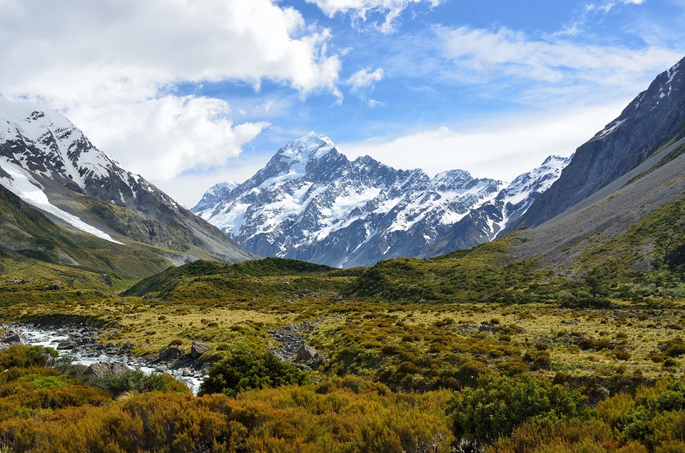Aoraki, Monte Cook, Montaña, Nueva Zelanda, Alpine
