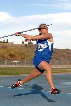 Track And Field, Javelin, Woman, Female