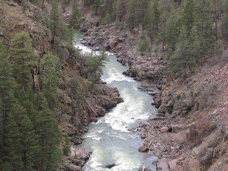 River, Riverbed, Landscape, Rocks, Water