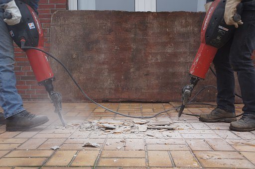Jackhammer, Building Rubble, Demolition