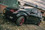 auto, black, red