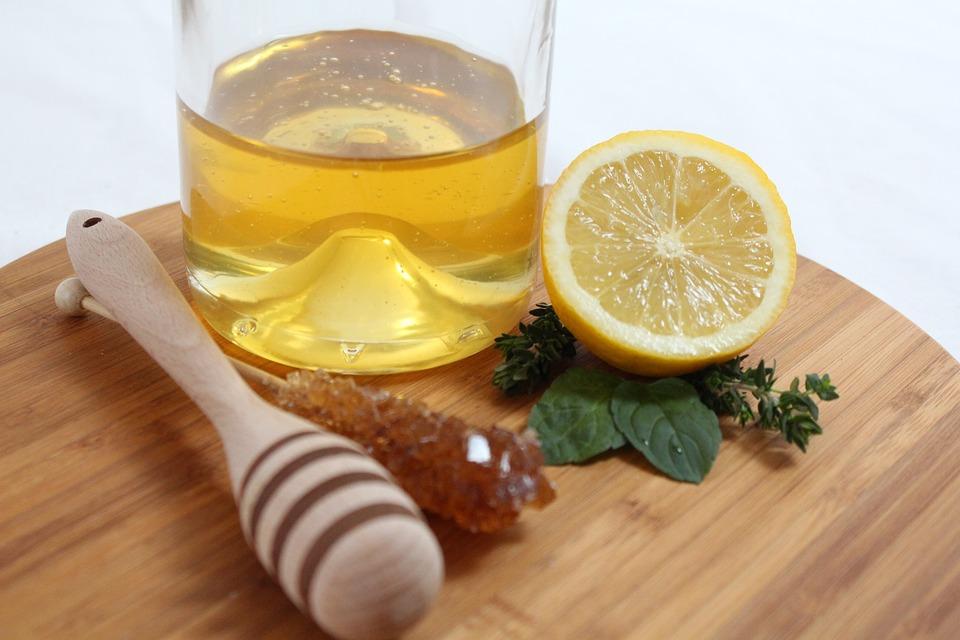 Лимон, Цитрусовые, Мята, Мед, Леденцов